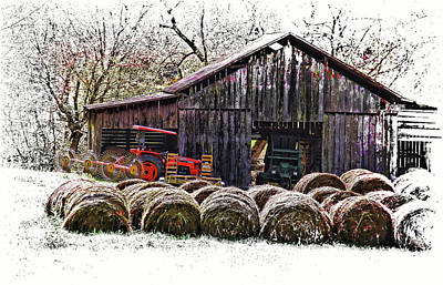 Weathered Photograph - Country Living by HH Photography of Florida