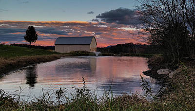 Photograph - Country Living Sunset by Lara Ellis