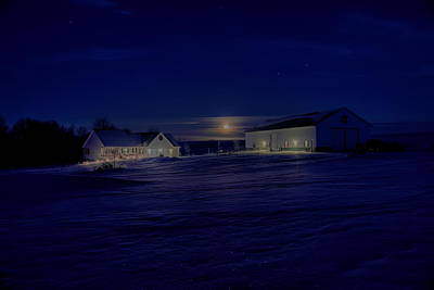Photograph - Country Living Under The Full Moon by Dale Kauzlaric