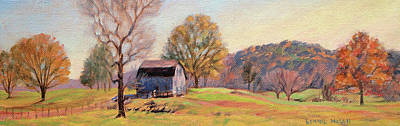 Appalachian Mountains Painting - Country Morning by Bonnie Mason
