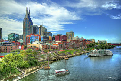 Photograph - Nashville Skyline Country Music Capital Nashville Tennessee Cityscape Art by Reid Callaway