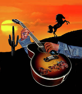 Digital Art - Country Music by Glenn Holbrook