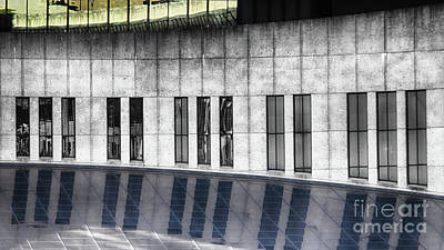 Piano Photograph - Country Music Hof Window Reflection by Tom Gari Gallery-Three-Photography
