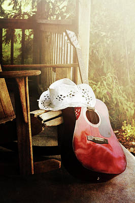 Rocking Chairs Photograph - Country Music by Stephanie Frey