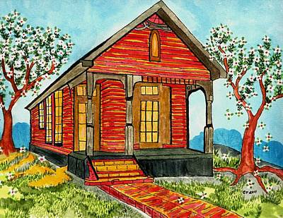 Country New Orleans Shot Gun House Art Print