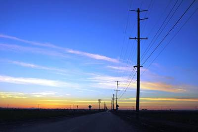 Photograph - Country Open Road Sunset - Blue Sky by Matt Harang