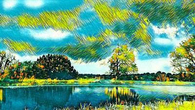 Painting - Country Paradise  by Ally White