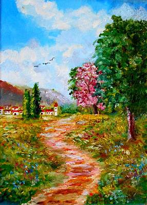 Painting - Country Pathway In Greece by Konstantinos Charalampopoulos
