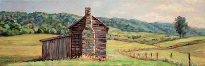 Painting - Country Quiet _ Rocky Gap Virginia by Bonnie Mason