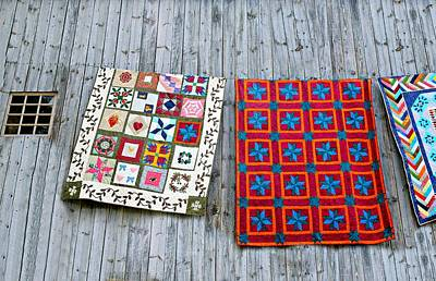 Hand Quilted Photograph - Patches by Diana Angstadt