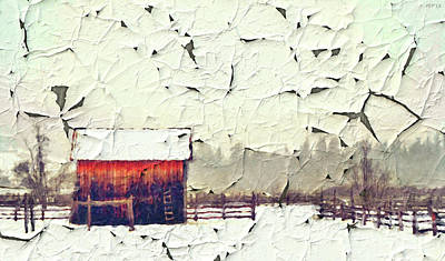 Photograph - Country Ranch And Peeling Paint by Phil Perkins