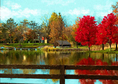 Photograph - Country Reflections by Ron Grafe