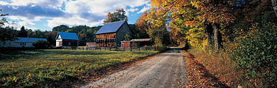 Country Road Along A Farm, Vermont, New Art Print by Panoramic Images