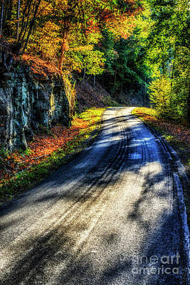 Photograph - Country Road Autumn Drive by Thomas R Fletcher