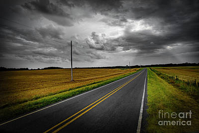 Print featuring the photograph Country Road by Brian Jones