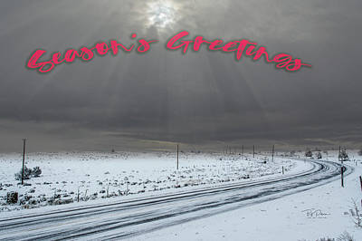 Photograph - Country Road Christmas by Bill Posner