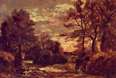 Painting - Country Road by Constable John