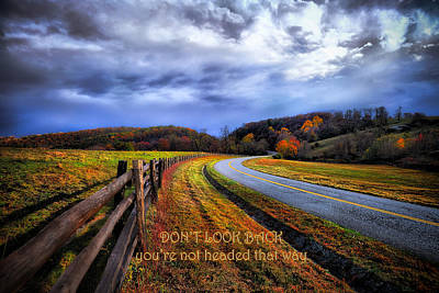Photograph - Country Road - Don't Look Back by Renee Sullivan