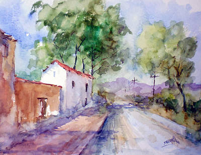 Painting - Country Road... by Faruk Koksal