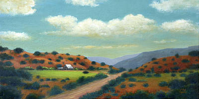 Scottsdale Painting - Country Road by Gordon Beck