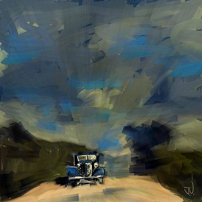 Digital Art - Country Road II by Jim Vance