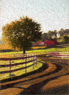 Dirt Roads Mixed Media - Country Road In Ohio by Dan Sproul