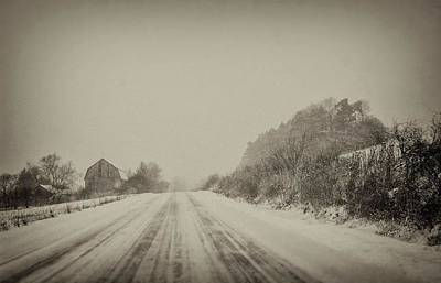 Photograph - Country Road In Winter by Marvin Borst