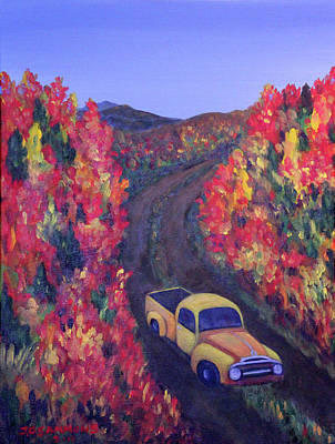 Painting - Country Road by Janet Greer Sammons