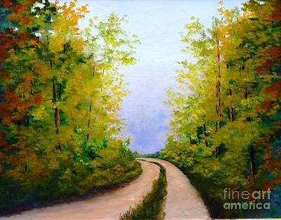 Painting - Country Road by Jerry Walker