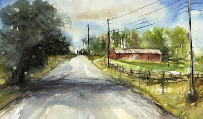 Painting - Country Road by Judith Levins
