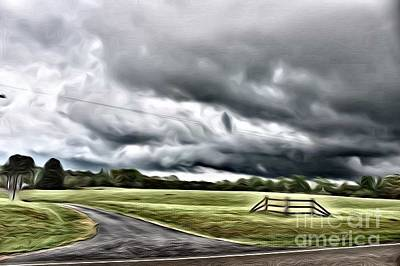 Mixed Media - Country Road L by Robin Coaker