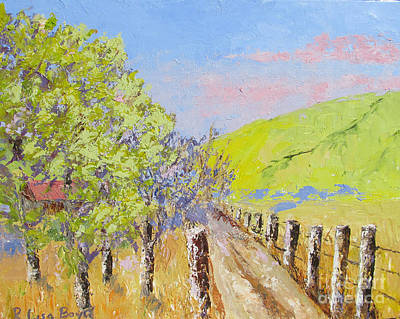 Painting - Country Road Pallet Knife by Lisa Boyd