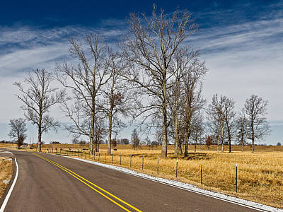 Photograph - Country Road by Ron Dubin