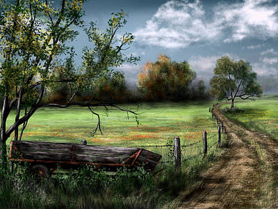 Painting - Country Road by Ron Grafe
