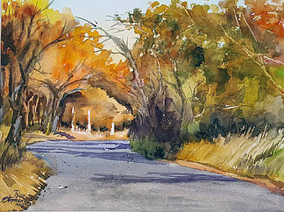 Painting - Country Road by Ron Stephens