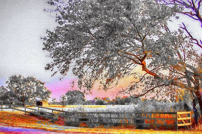 Country Road - Rural Landscape Art Print
