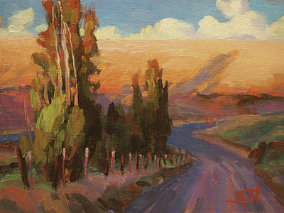 Countryside Painting - Country Road by Steve Henderson