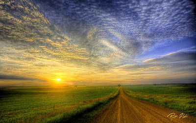Photograph - Country Road Sunrise by Rikk Flohr