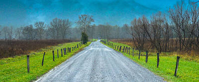 Cades Cove Painting - Country Road Take Me Home by Abhay P