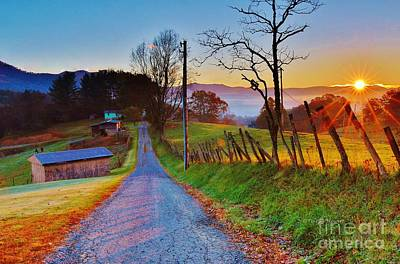 Maggie Valley Photograph - Country Road by Terrah Hewett