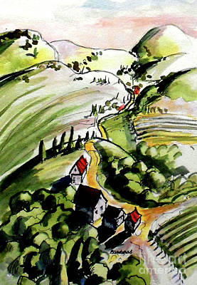 Painting - Country Road by Terry Banderas
