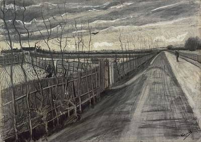 Painting - Country Road The Hague March    April 1882 Vincent Van Gogh  1853  1890 by Artistic Panda