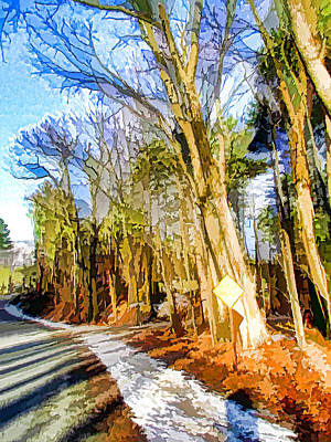 Country Road With Pine Trees 2 Print by Lanjee Chee