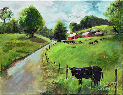 Painting - Country Roads Of Georgia- Ellijay Rural Scene by Jan Dappen