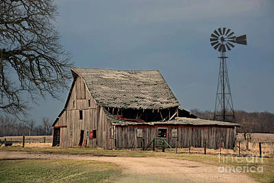 Photograph - Country Roof Collapse by Kathy M Krause