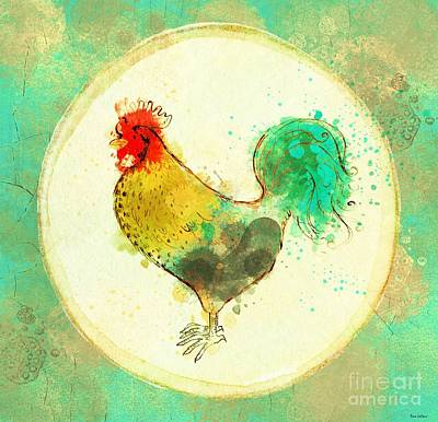 Painting - Country Rooster by Tina LeCour