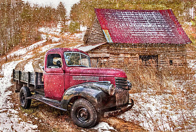 Photograph - Country Scene In Winter by Debra and Dave Vanderlaan