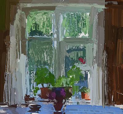 Digital Art - Country Side Window by Yury Malkov