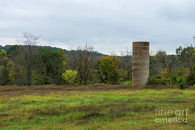 Photograph - Country Silo Landscape by Jennifer White