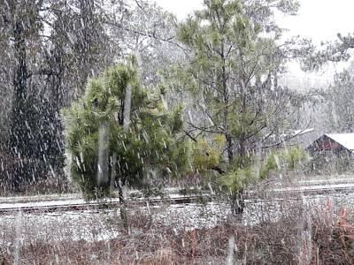 Photograph - Country Snow Scene Stockton by Belinda Lee